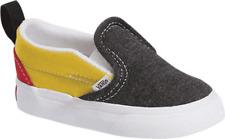Toddler Vans Slip On Coastal Canvas Sneaker (Toddler) Black/Yellow/Red