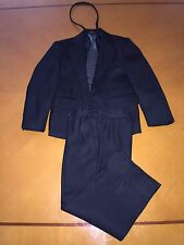 Baby Boys Toddlers Maxi & Mark Solid Black Suit & Pants & Tie Size 4T