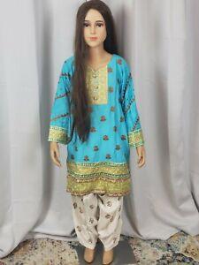 Kids Girls Outfit Pakistani Indian Shalwar Kameez Suit 2piece Size 28 Dress