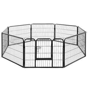 Pet Enclosure   8 Panels à 80x60cm / Playpen Fence Cage Injury Travel Dog Puppy