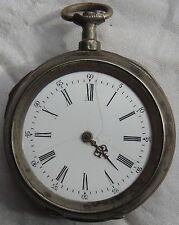 Quarter Repeater Pocket Watch Open Face Silver Case 56,5 mm. in diameter
