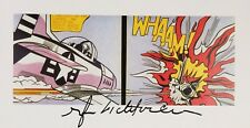 ROY LICHTENSTEIN  * WHAAM *  AUTHENTIC HAND SIGNED PRINT W/ C.O.A.