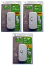 (3) ea Lutron Electronics TTCL-100H-WH White CFL / LED Lamp Dimmer Switch