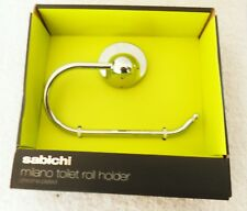 Sabichi Milano Toilet Roll Holder, Silver -