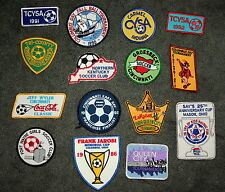 Lot of 15 Ohio Indiana Midwest Soccer Clubs Tournament Patches New NOS 1980s