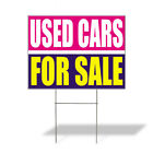 Weatherproof Yard Sign Used Cars for Sale Advertising Printing Pink Lawn Garden