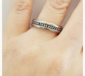 $1550 David Yurman Steamline Black Diamond Ring In Gray Titanium- Receipt
