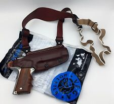 1911 & Browning Hi-Power | VEGA O102 Leather Shoulder & Belt Holster RH Brown