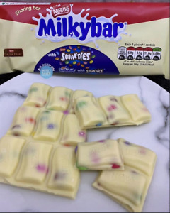 Nestle Milky Bar Smarties White Chocolate Bar 100g Limited Edition
