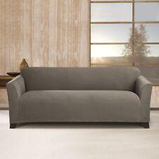 Sure Fit Stretch Morgan Knit Sofa Slipcover Gray / Grey Box Cushion Seat *SALE*