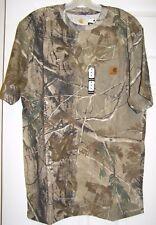 Carhartt Mens M Realtree Pocket T-shirts Original Fit Leather Logo See Sizing