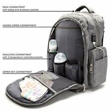 Diaper Backpack Multi-Functional Baby Bag for Women and Men, USB Charging Access