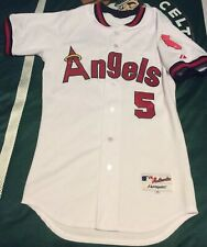 Authentic Throwback Albert Pujols Majestjc Jersey MLB Angels 40 Medium Men's M
