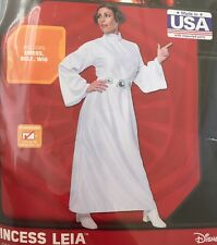 Star Wars Princess Leia Costume Disney Women's Adult Rubies Dress Standard New