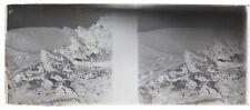 Montagne Guerre 14-18 Balkans Photo F3 Plaque de verre Stereo Negative