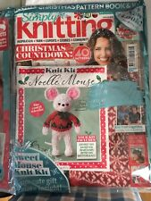 Simply Knitting Magazine 2018 Issue 178 Christmas Bonus Pack 2in1 Mouse Knit UK
