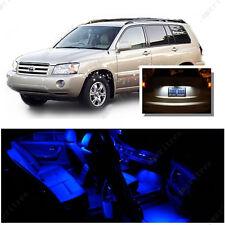 For Toyota Highlander 2008-2015 Blue LED Interior Kit + White License Light LED