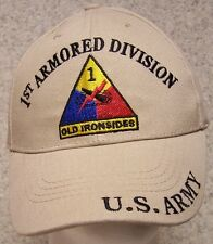Embroidered Baseball Cap Military Army 1st Armored Division NEW 1 size fits all