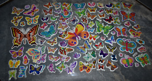 5x SHEETS KIDS PUFFY REUSABLE SCRAP BOOK STICKERS BEAUTIFUL BUTTERFLIES INSECTS