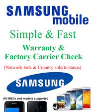 Samsung Galaxy Warranty Check Carrier Network status Factory lock unlock check