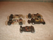 5 Tyco AFX slot car Chassis parts working