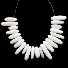 Q53608 Beautiful 22pcs White agate pendant bead set