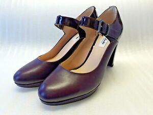 Clarks UK 7.5 D Burgundy Mary Jane Strap Shoes BNIB