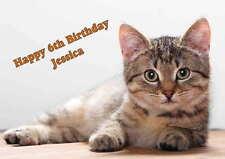 Personalised Cat Kitten  Birthday Card