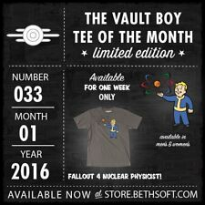 Fallout VBotM-033: Nuclear Physicist Bethesda Vault Boy Tee Shirt of the Month