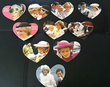 Pacificnet Princess Diana heart Shaped Phone Card Set. Limited Edition