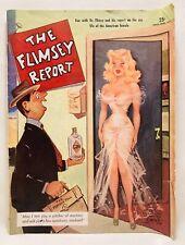 THE FLIMSEY REPORT VINTAGE 1953 RISQUÉ GIRLIE CARTOON & JOKES PULP - BILL WENZEL