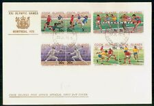 COOK ISLANDS FDC 1976 COVER OLYMPICS MONTREAL PAIRS kkm76129
