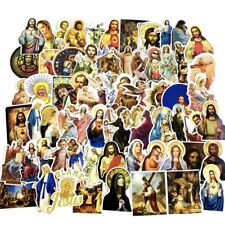 More details for 68 jesus stickers novelty decals skater christian stationary laptop virgin mary