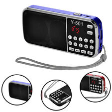 Portable Mini LCD Digital FM Radio Speaker USB Micro SD TF Card Mp3 Music Player