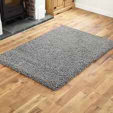 DISCOUNTED Thick Dark Grey Circle Shaggy Rugs Thick 5cm High Pile 133x133cm