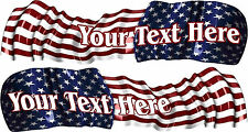 Custom Name Boat Car Truck Graphics Vinyl Stickers American Flag Decals  Wrap