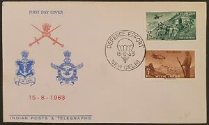 1963 FDCS VF USED INDIA INDIEN FDC ARMY THEY DEFEND NBA B240.1 START $0.99