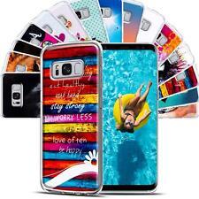 Handy Hülle für Samsung Galaxy Schutzhülle TPU Silikon Backcover Case Slim Motiv