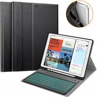 For iPad Pro 12.9 2nd Gen 2017 TPU Case Stand Cover w 7 Color Backlit Keyboard
