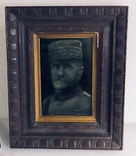 STOKE ON TRENT ENGLISH POTTERY PLAQUE MILITARY MARSHALL FERDINAND FOCH FRANCE