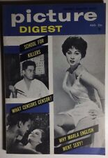 PICTURE DIGEST August 1956 risque men's mag (no nudity) the Rear Window girl