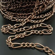 3M Vintage Style Antiqued Copper Tone Iron Chain 10*5mm