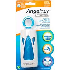 Angelcare On The Go Travel Nappy Bag Dispennser + Odur Control Easy Knot AC1300