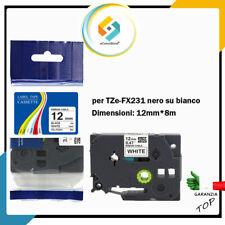Nastro Etichettatrice Brother p - Touch 12mm TZe 231 compatibile 1000 H 107 105