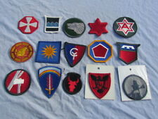 PATCHS US  LOT DE 15 US ARMY WWII, COREE,VIETNAM  INSIGNES  MEYER ORIGINAUX