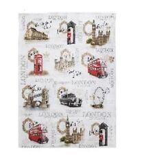 Vintage London England Tea Towel Tea Linen Leonardo Collection Lesser & Pave