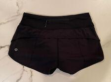 lululemon Speed Up Shorts 2.5 Size 2 Black EUC!