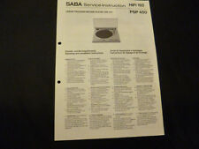 Original Service Manual Saba PSP 450