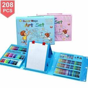 208Pcs Art Creativity Set Children Kids Crayons Painting Drawing Kit Sets UK
