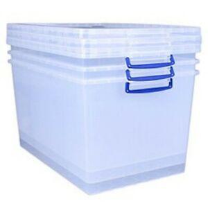 83 Litre Nestable really useful box (3 pack)